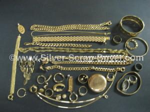 Gold jewelry scrap